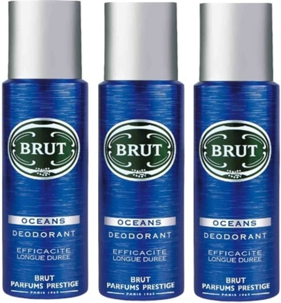 Brut Desodorante Body Spray Océano 200ml (3unidades)