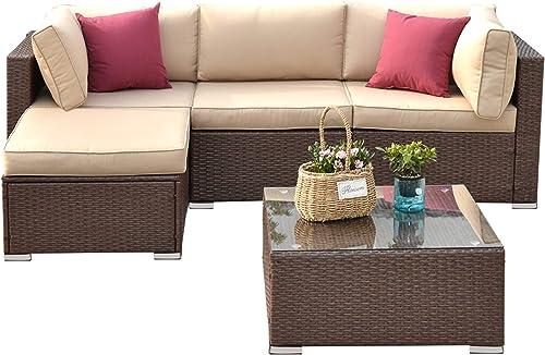 SUNVIVI OUTDOOR 5 Piece Outdoor Patio Furniture Set
