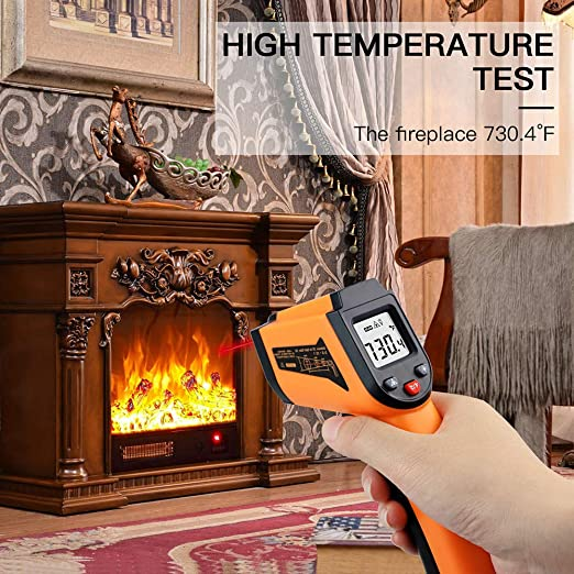 IR Thermometer for Industrial,Kitchen Cooking,Ovens 50/°C to 550/°C Laser Infrared Thermometer Non-Contact Digital Temperature Gun,Adjustable Emissivity /&MAX//MIN//, -58/°F to 1022/°F
