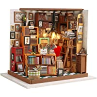 Fsolis DIY Dollhouse Miniature Kit with Furniture, Book Store Dollhouse 3D Wooden Miniature House, Sam's Book House…