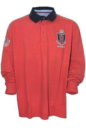 Kitaro Polosweat Sweatshirt Polo Sweat Shirt Herren Langarm Plusgröße  Übergröße  Amazon.de  Bekleidung 0c9ec2a1a6