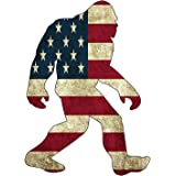 Rogue River Tactical USA Flag Bigfoot Sasquatch Sticker Bumper Car Decal Gift Patriotic American United States