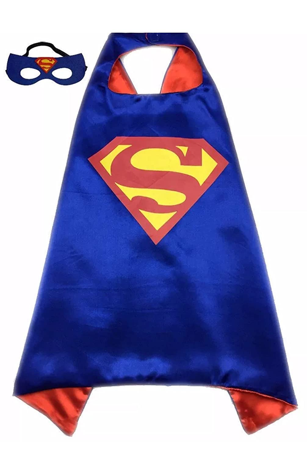 Kids Superhero Superman Costume and Dress up For Kids Cape and Felt Mask