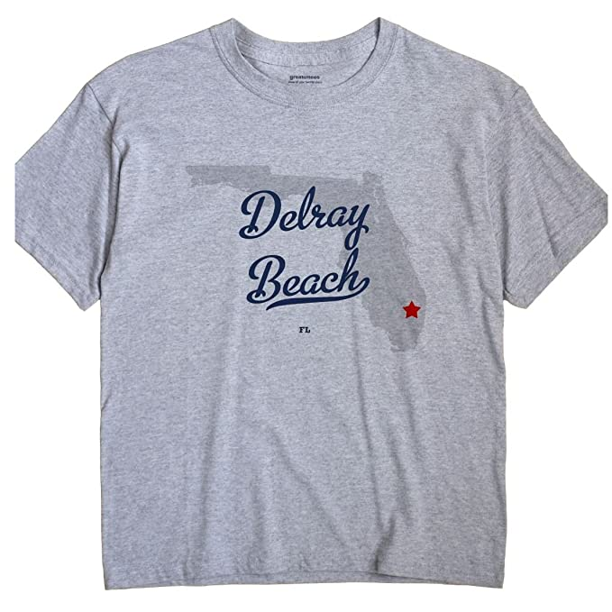 Delray Beach Florida Map.Amazon Com Delray Beach Florida Fl Map Greatcitees Unisex Souvenir