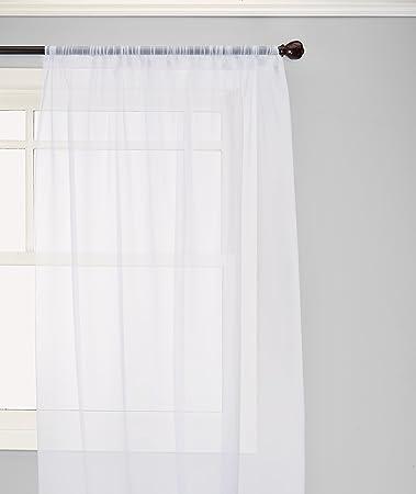 elegant comfort voile84 window curtains sheer panel with 2inch rod pocket 60 width - Window Sheers
