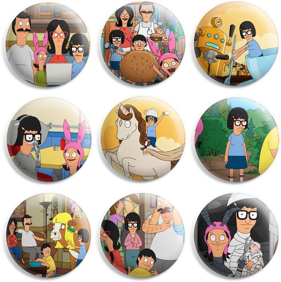 Amazon.com: Tina Belcher Bobs Burgers Pinback Buttons Pin Badges 1 ...