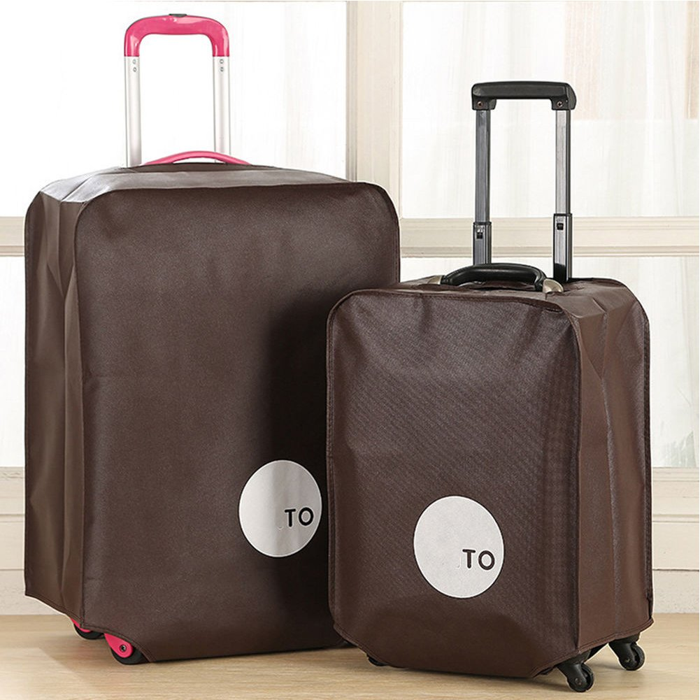 1pc Non-woven Travel Luggage Cover, Suitcase Protector Dust Proof Cover Fit for 20/24/26/28 Inch (20inch,Coffee) by GEZICHTA (Image #1)