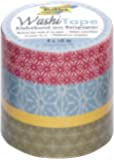 Folia 26403 Lot de 4 rubans adhésifs Washi Tape Japanflair
