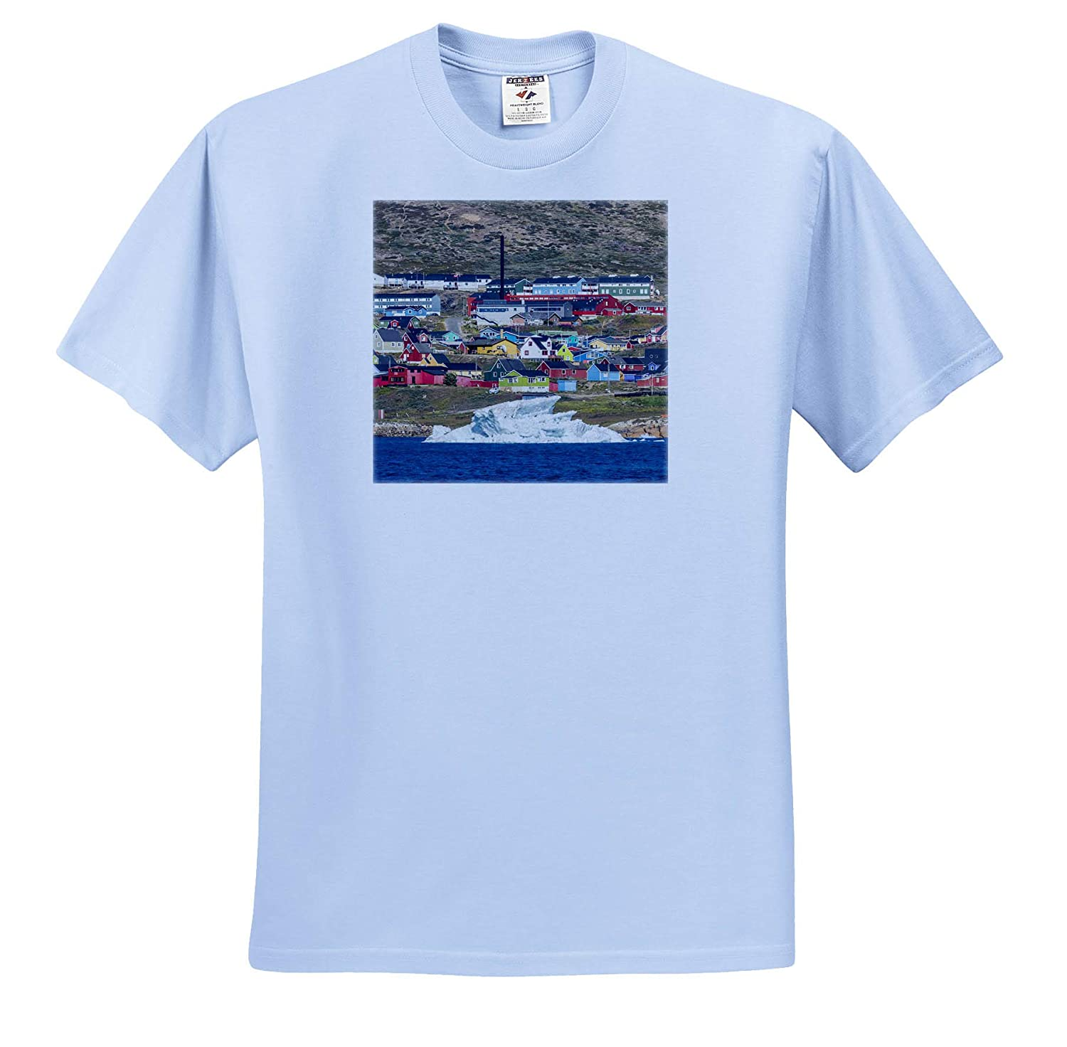 Greenland ts/_313887 3dRose Danita Delimont The Small Town Narsaq in The South of Greenland - Adult T-Shirt XL