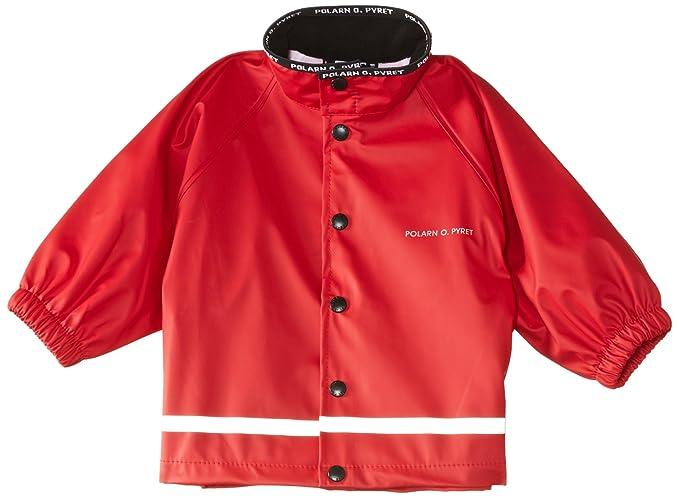 f00107ae8bba Amazon.com  Polarn O. Pyret RAIN JACKET (BABY) - 6-12 M Poppy  Clothing