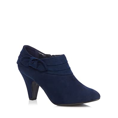 Good for the Sole Navy Genevieve High Heel Wide Fit Ankle Boots  B0771S5KP2