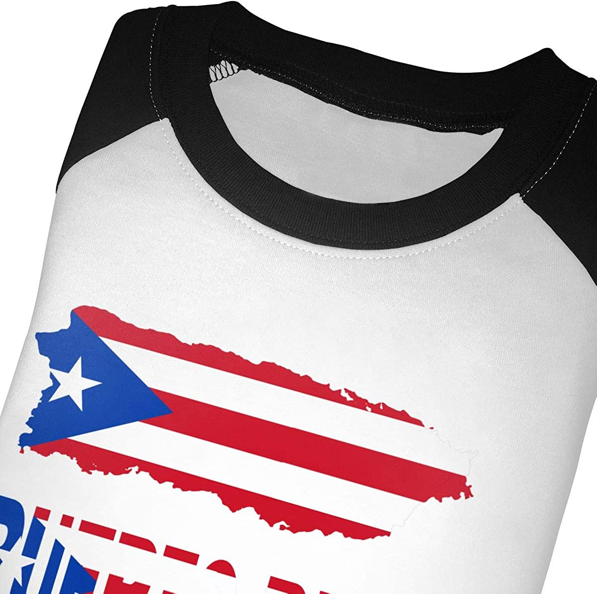 Boys Girls Kids /& Toddler Puerto Rico Map Flag and Text Long Sleeve Tees 100/% Cotton