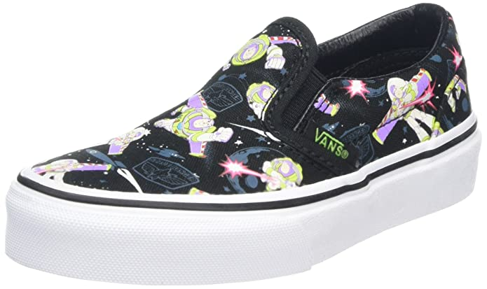 Vans Classic Slip-On Schuhe Unisex Kinder Low Top Schwarz Toy Story Muster