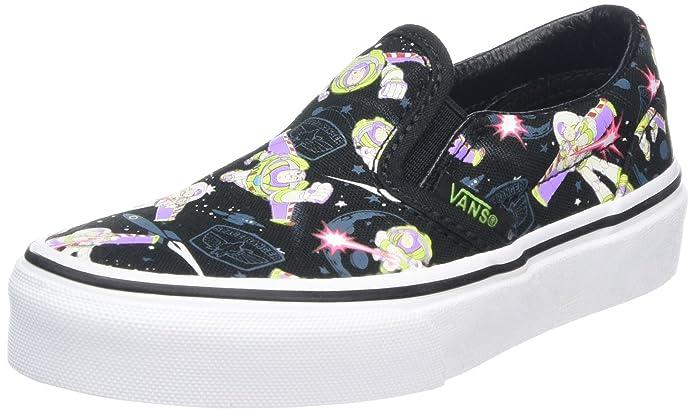 Vans Classic Slip-On Schuhe Unisex Kinder Low Top Schwarz Toy Story Muster
