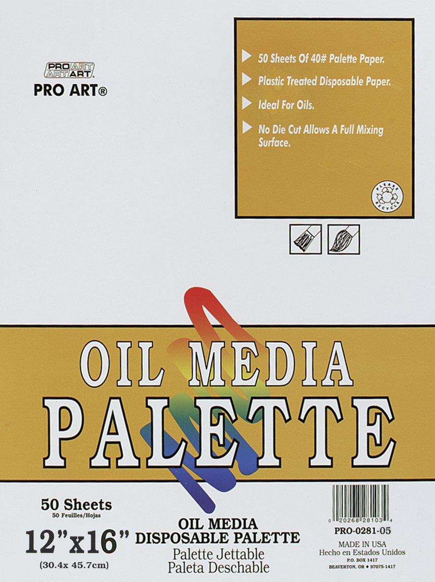 PRO ART 12-Inch by 16-Inch Disposable Oil Palette Paper Pad by PRO ART