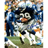 $29 » Curt Warner Autographed 8x10 Photo Seattle Seahawks MCS Holo Stock #124702