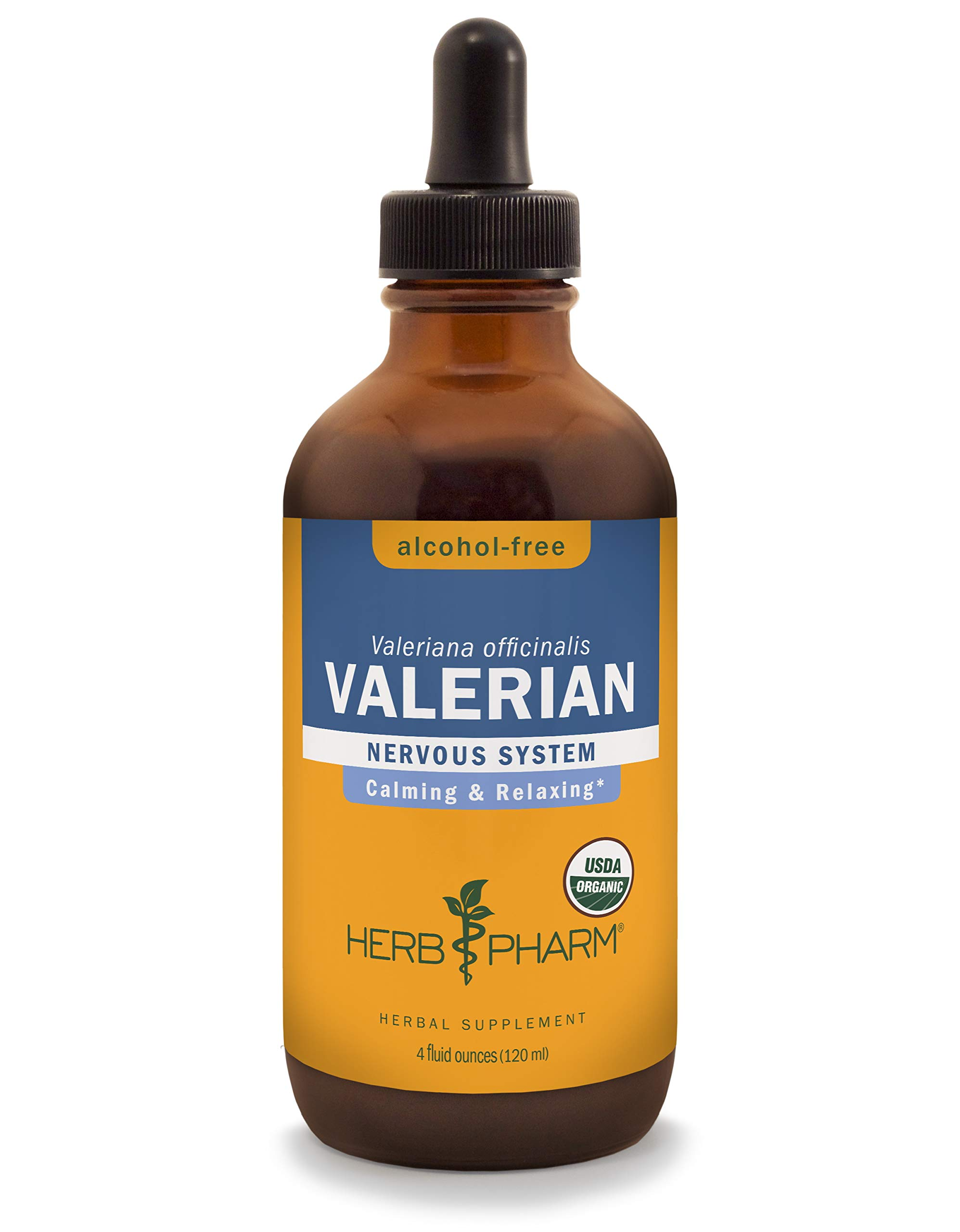 Herb Pharm Certified Organic Alcohol-Free Valerian Root Liquid Glycerite for Restful Sleep - 4