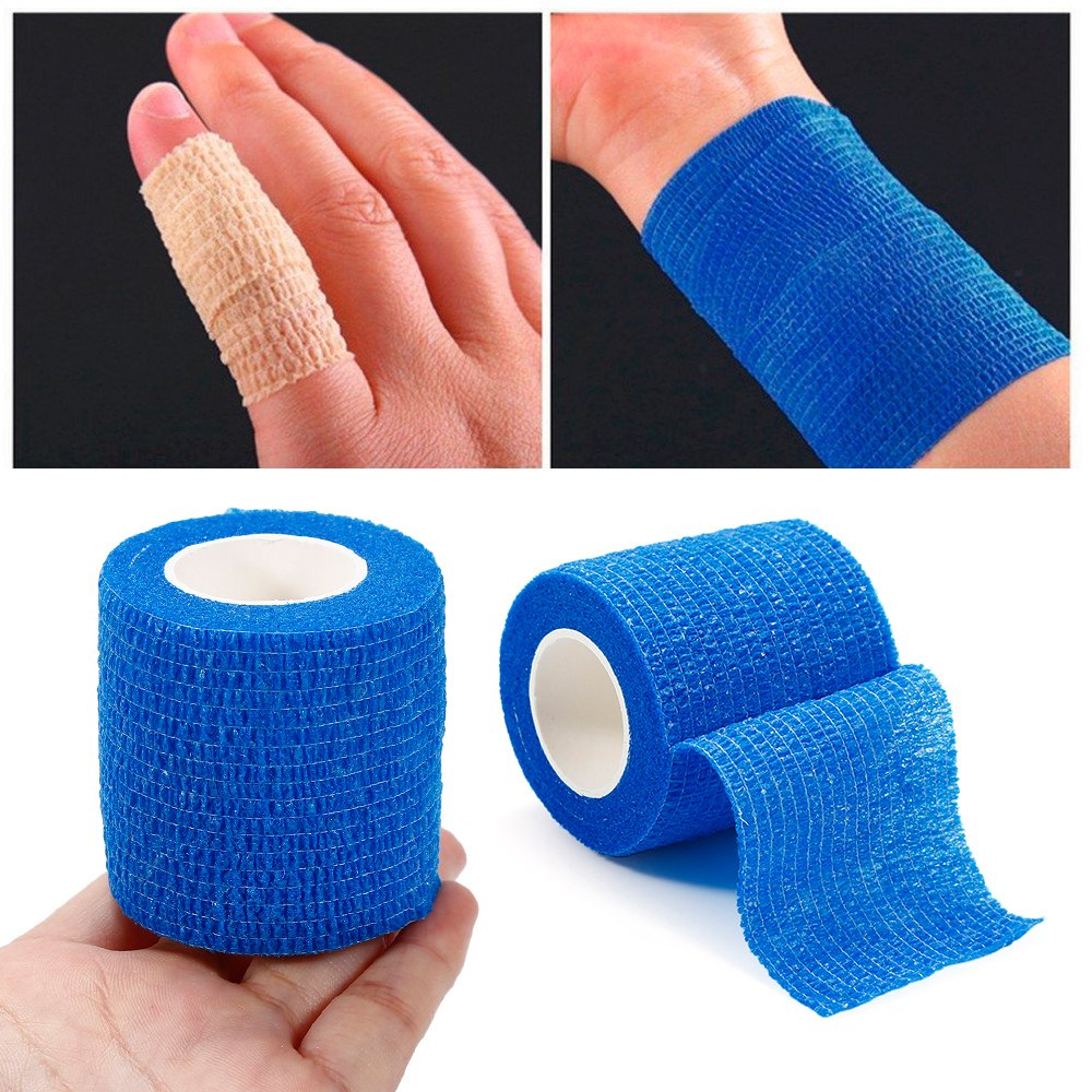DESTINLEE Non-woven Self-Adherent Cohesive Tape, Treatment Gauze Elastic Bandage For First Aid And Medical Health Care 5cm × 5m Six Colors
