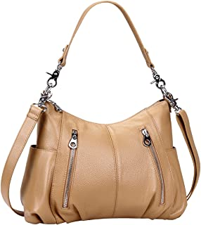 7479a9003c Heshe Women s Leather Shoulder Handbags Cross Body Bags Hobo Totes Top  Handle Bag Satchel and Purse