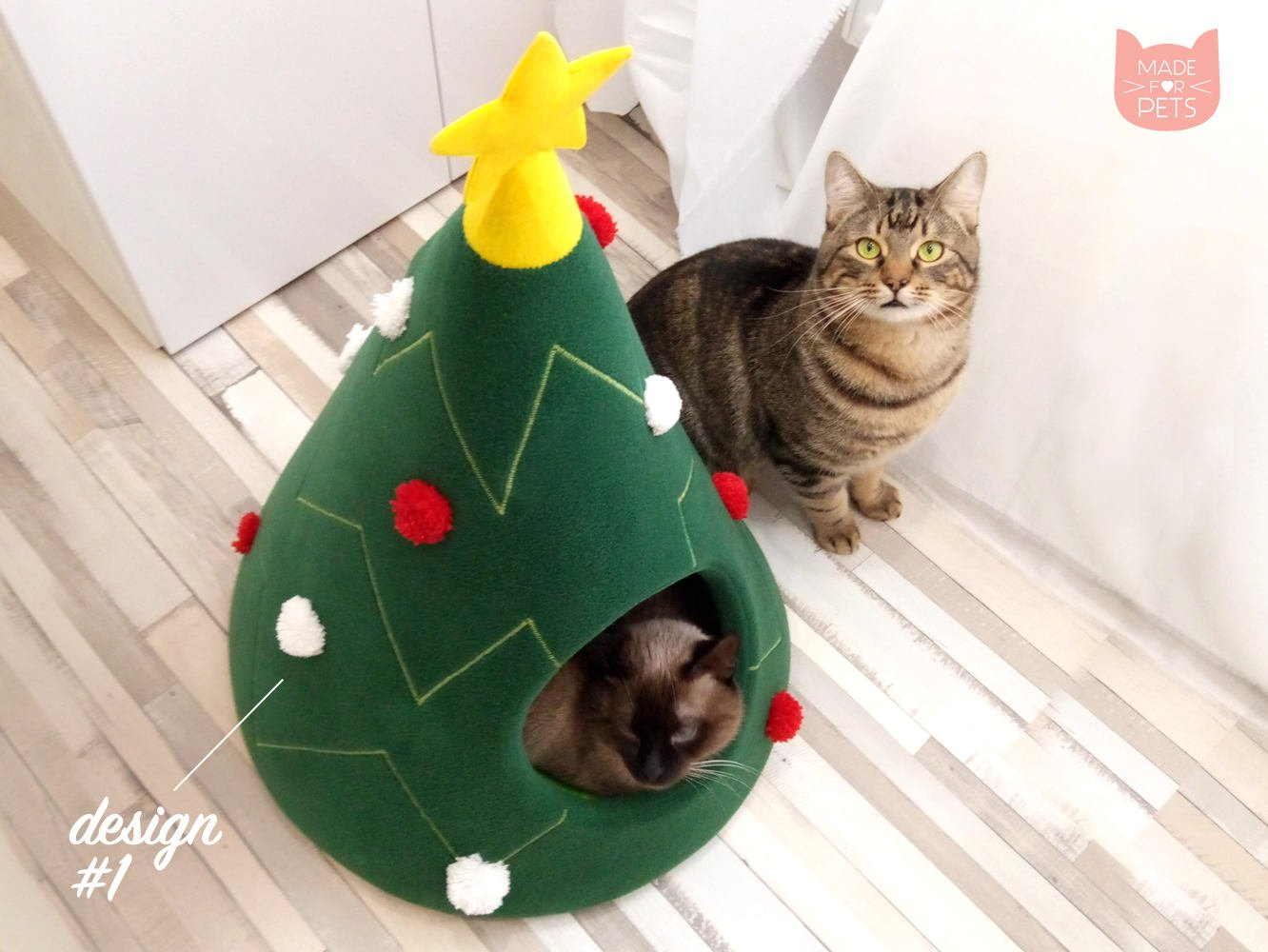 Christmas tree cat house, Cat furniture, Christmas gift, Pet furniture, Cat teepee, Dog bed, Gift idea
