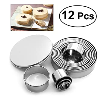 OUNONA 12 piezas cortadores de hojaldre galletas de la galleta del cortador de galletas conjunto forma