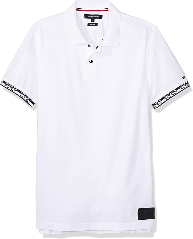 Tommy Hilfiger Polo Heather Badge Blanco Hombre L Blanco: Amazon ...