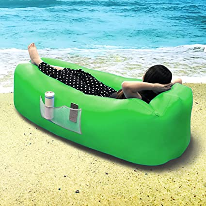 BangShou Hinchable Lounger Air Sofá Cama, Sofá con Air Cuna ...