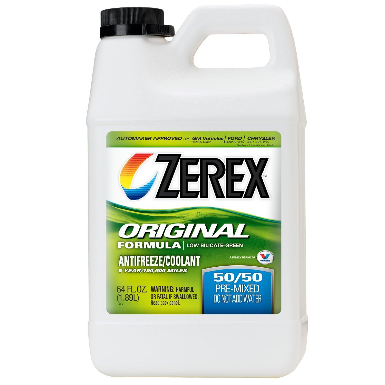 Zerex Original Green Antifreeze/Coolant, Ready to Use - 0.5gal (ZXRU4)