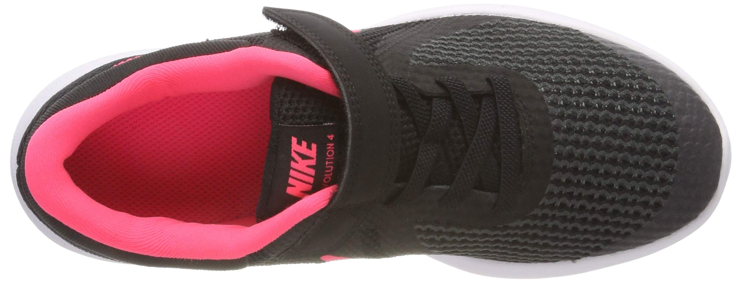Nike Girls' Revolution 4 (PSV) Running Shoe, Black/Racer Pink - White, 12C Regular US Little Kid by Nike (Image #7)