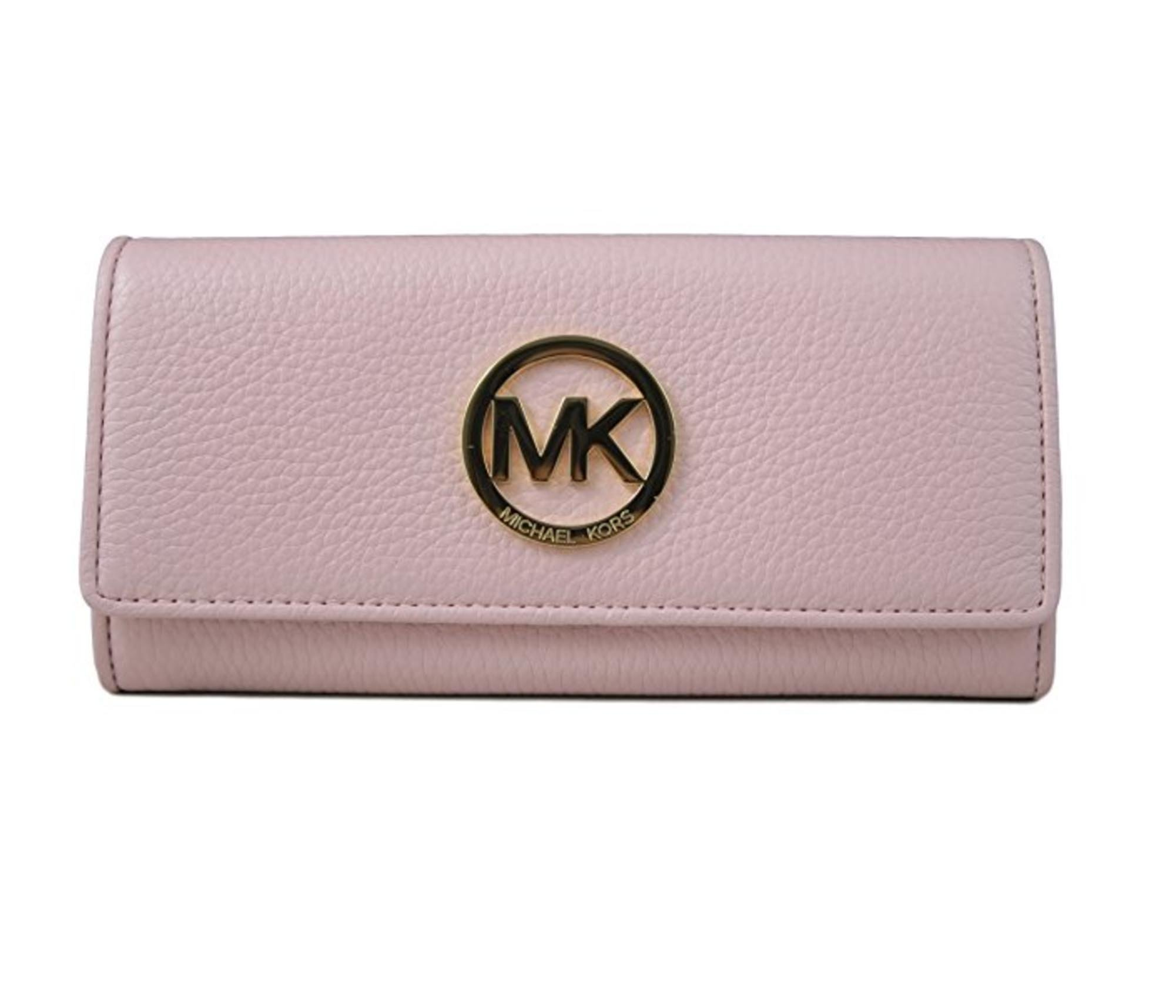 Michael Kors Fulton Flap Continental Leather Wallet (Blossom) by Michael Kors