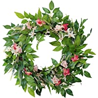 Fenteer Decor Wreath 19 inches Spring and Summer Wreath for Outdoor Or Home Decor Decoration Easter Wreath