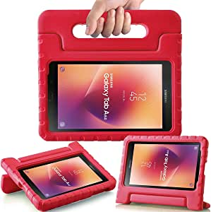 AVAWO Kids Case for New Samsung Galaxy Tab A 8.0 2017 - Shock-proof Light Weight Super Protection Handle Stand Case for Kids Children for Samsung Galaxy Tab A 8-inch 2017 Tablet (SM-T380/SM-T385), Red