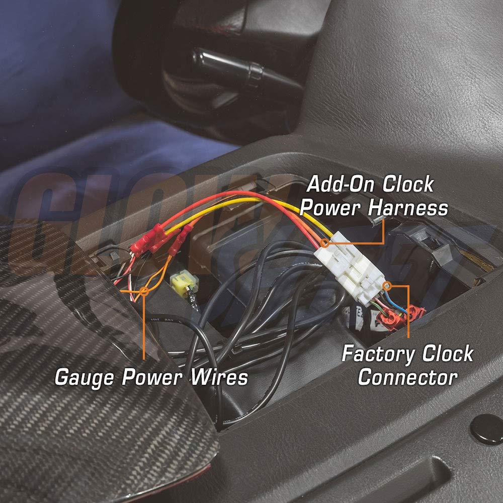 amazon com glowshift add on clock power harness for 2002 subaru radio wiring diagram glowshift add on clock power harness