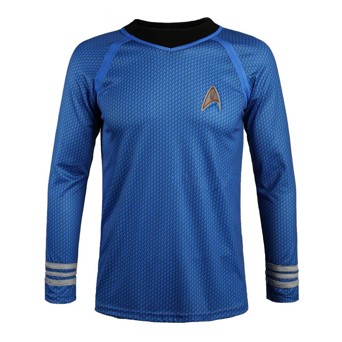 Star Trek en la oscuridad macho uniforme azul camiseta traje ...