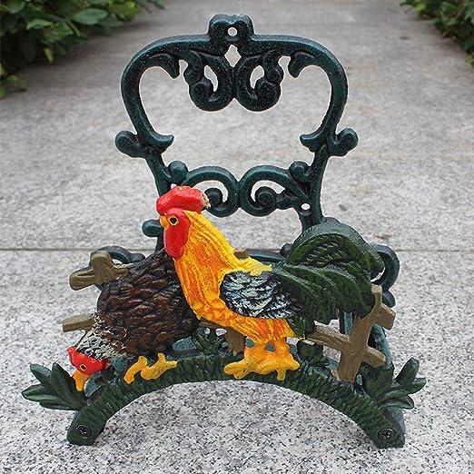 HLQW - Soporte para manguera de jardín de hierro fundido: Amazon.es: Hogar