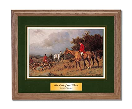 Amazon.com: Art Prints Inc Victorian Fox Hunting Chase Horse Dog ...