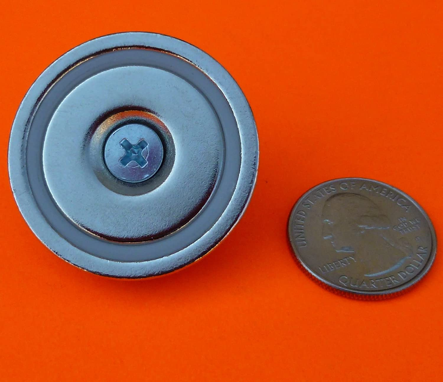 Super Strong 120 Lbs Neodymium Cup Magnet 1 5 Quot Countersunk