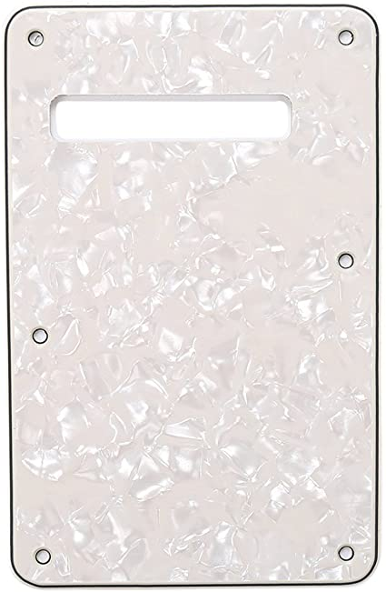 *NEW Parchment TREMOLO BACK COVER for Fender Standard Stratocaster Strat 1 Ply