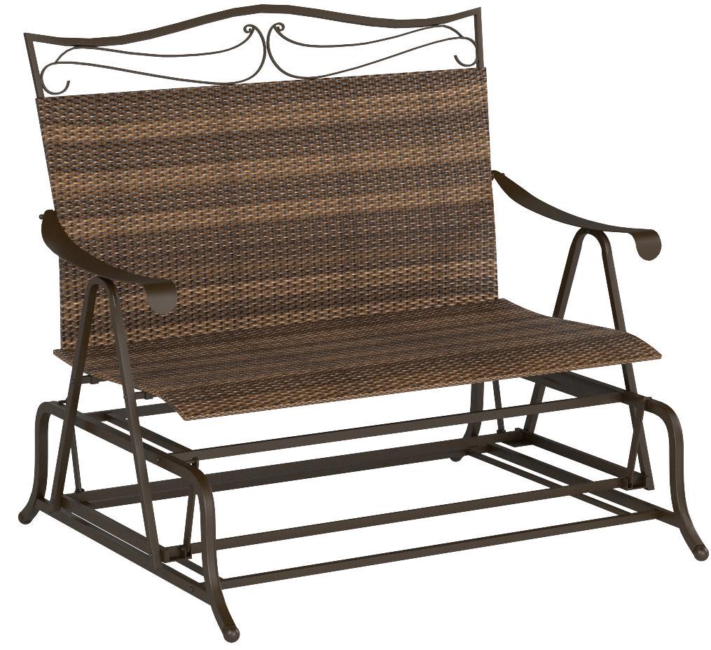 Valencia Steel-Frame Wicker Glider Rocking Chair