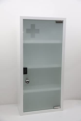 Wincere Moisture Resistance Steel Wall Mount Medicine Cabinet First Aid Storage