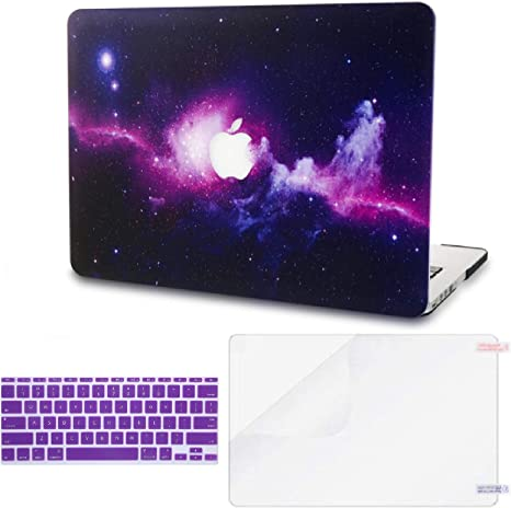 KECC MacBook Pro 13 Case Colourful Space 2020//2019//2018//2017//2016 Screen Protector A2159//A1989//A1706//A1708 Touch Bar Sleeve w//UK Keyboard Cover Plastic Hard Shell