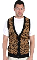 80's Movie Ferris Bueller's Day Off Button Up Costume Sweater Vest