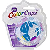 Wilton 415-2290 36 Count Cool Flower Color Baking Cups, Standard