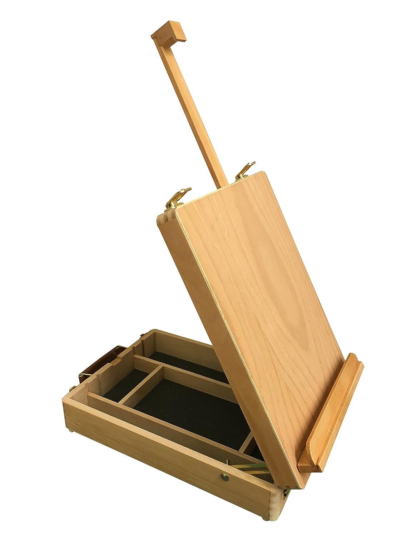 The Art Shop Skipton - Cassetta-cavalletto Langdale per artisti, in legno, da tavolo, con contenitore