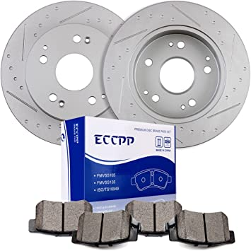 Rear Premium Ceramic Brake pads For 2002 2003 2004 2005 2006 Acura RSX Front