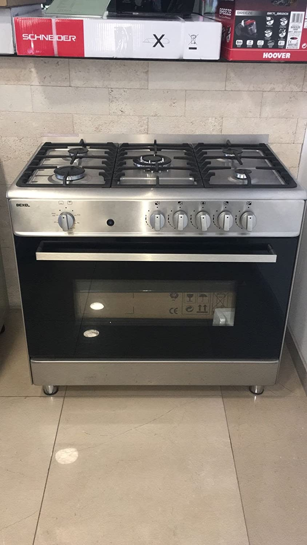 Gas Stand Cocina/Gas Horno/90 cm/Gas/112liter/acero inoxidable/LPG/Gas Natural
