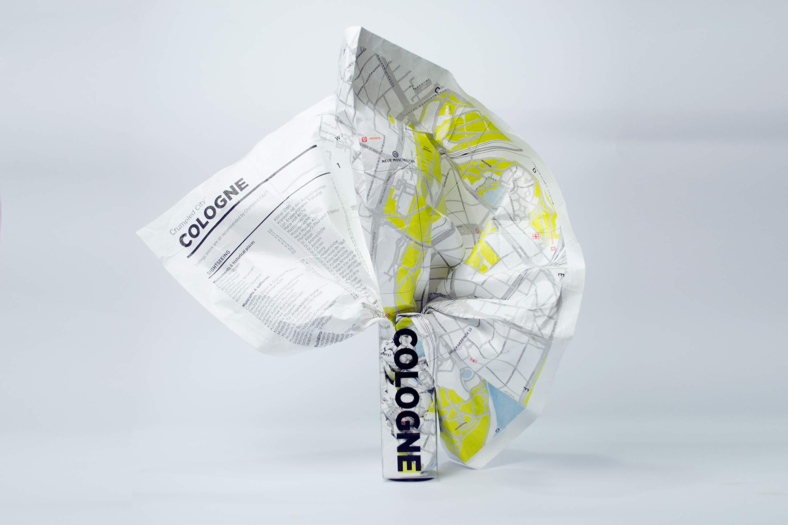 Cologne Crumpled City Map (Crumpled City Maps)