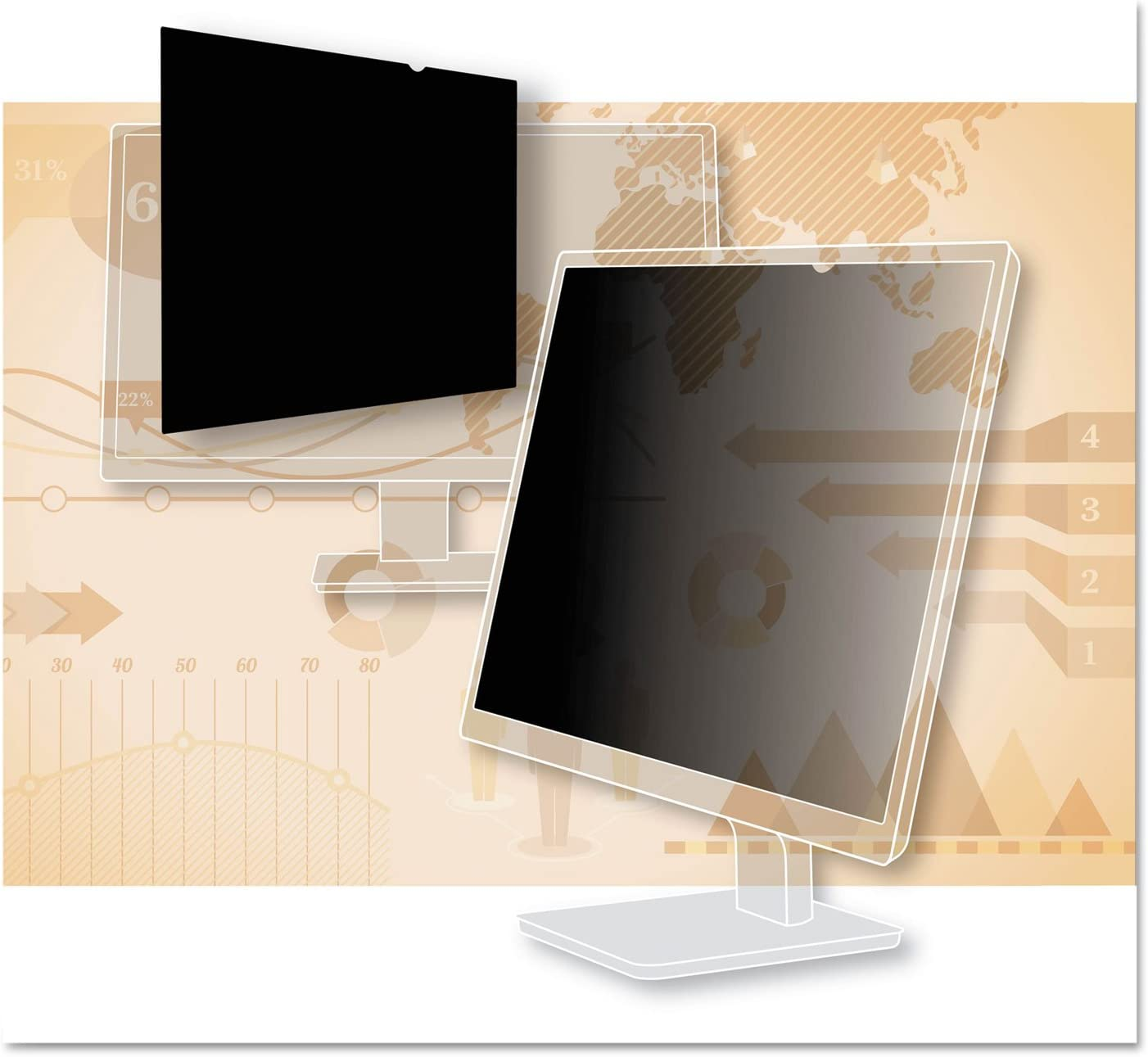 3M Privacy Filter for 23.6 Widescreen Monitor PF236W9B