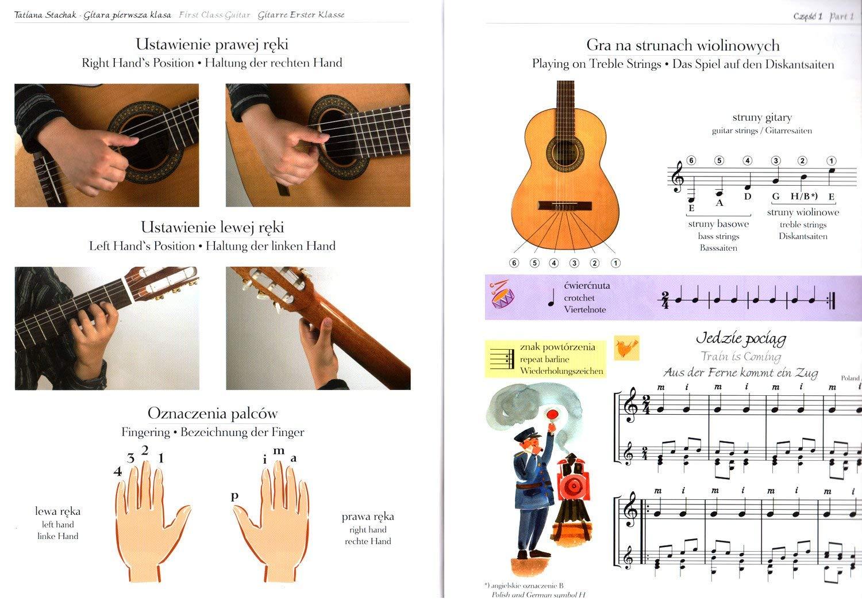 Tatiana Stachak - Guitarra de primera clase (trilingüe, alemán, polaco, inglés, con pinza en forma de corazón): Amazon.es: Instrumentos musicales