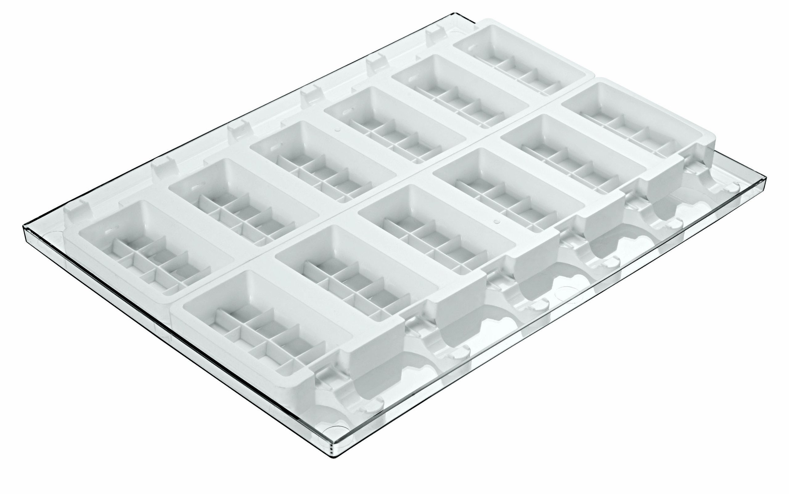 Paderno World Cuisine Ice Cream Molds, Tray and 50 Sticks, Rectangular Shaped, Set of 2 by Paderno World Cuisine